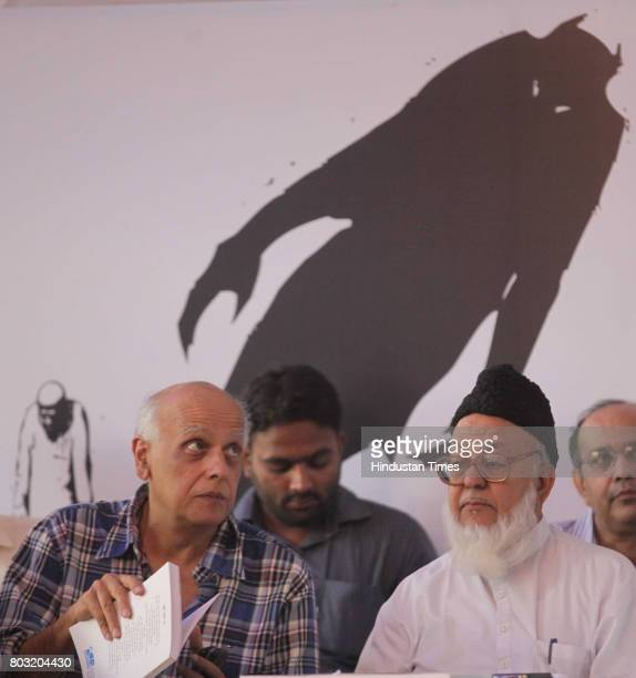 Mahesh Bhatt interact with Abdul Hameed Azhari from Malegoan after release of Tribunal report in book 'What it means to be a muslim in India Today'...