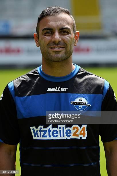 Mahir Saglik poses during SC Paderborn 07 team presentation at BentelerArena on July 4 2014 in Paderborn Germany
