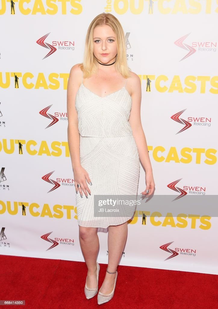 Mahkenna attends the premiere of Swen Group's 'The Outcasts' on April 13, 2017 in Los Angeles, California.