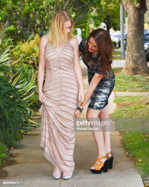 Mahkenna Tyson and Ali Levine attend Celebrity Stylist Ali Levine Dresses Today's Influencers For Prom/Spring Fling Event at Pistol Stamen on April...