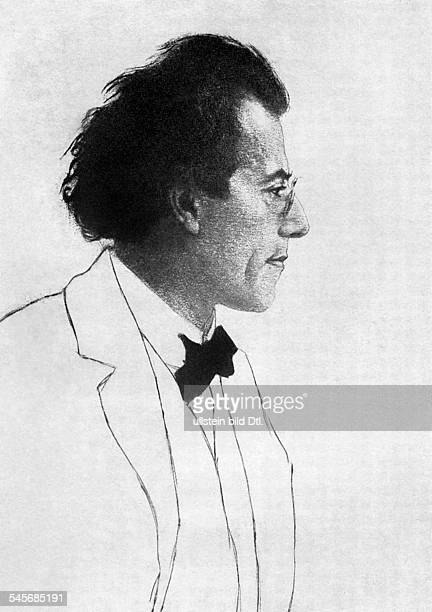 Mahler Gustav *07071860Komponist Dirigent Oesterreich Radierung von Emil Orlik undatiert