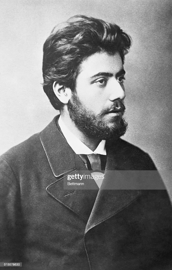 Mahler, Gustav (1860-1911), Austrian composer. Photograph showing him as a young man with full beard during his stay at Prague. Undated.