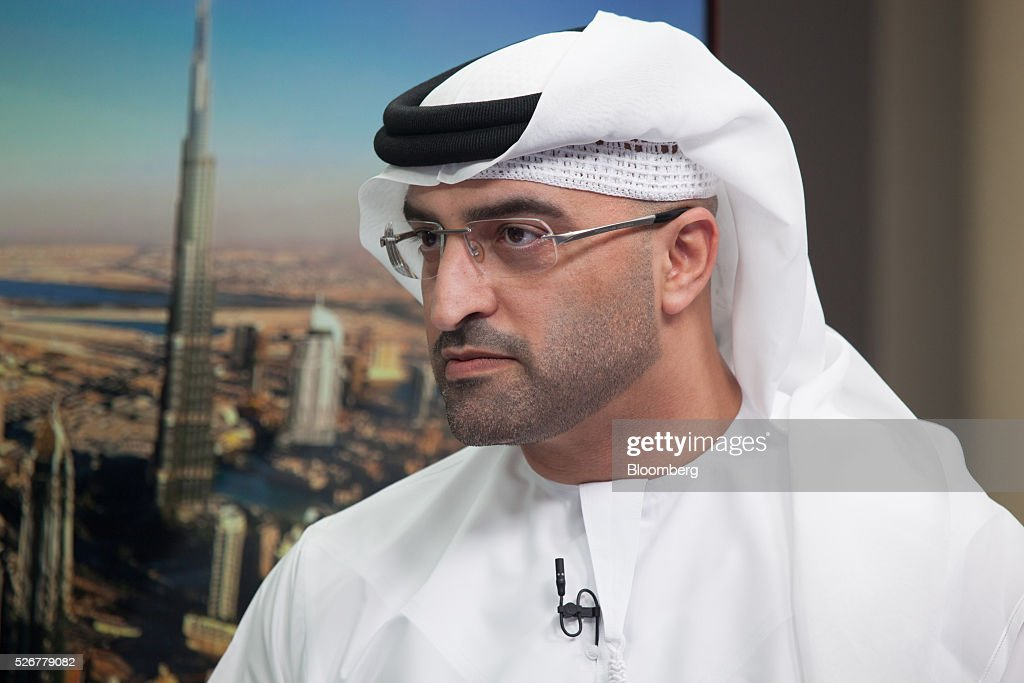 Mahmood Al Mahmood, chairman of ADS Holding LLC, pauses during a Bloomberg Television interview in Dubai, United Arab Emirates, on Sunday, May 1, 2016. Global economic growth will determine whether sovereign wealth funds withdraw further funds from global markets, according to Al Mahmood. Photographer: Razan Alzayani/Bloomberg via Getty Images