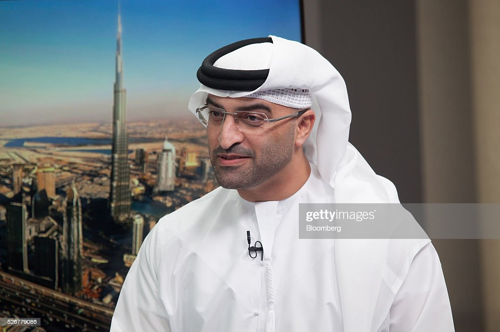Mahmood Al Mahmood, chairman of ADS Holding LLC, speaks during a Bloomberg Television interview in Dubai, United Arab Emirates, on Sunday, May 1, 2016. Global economic growth will determine whether sovereign wealth funds withdraw further funds from global markets, according to Al Mahmood. Photographer: Razan Alzayani/Bloomberg via Getty Images