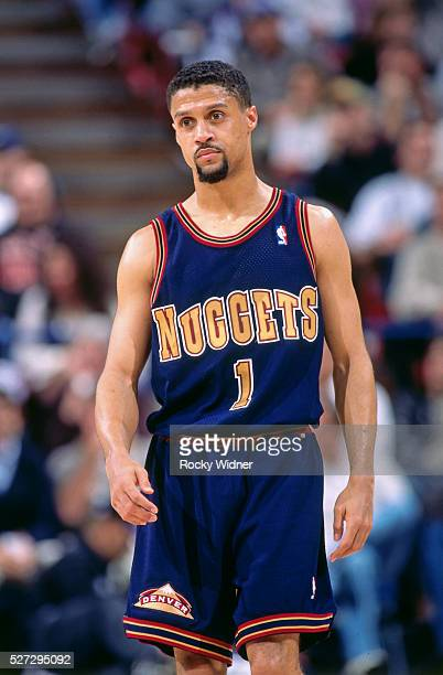Mahmoud Abdul Rauf of the Denver Nuggets walks against the Sacramento Kings circa 1996 at Arco Arena in Sacramento California NOTE TO USER User...