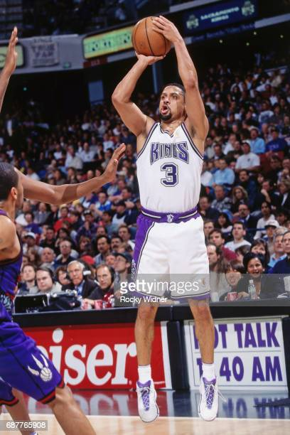 Mahmoud AbdulRauf of the Sacramento Kings shoots against the Toronto Raptors circa 1996 at Arco Arena in Sacramento California NOTE TO USER User...