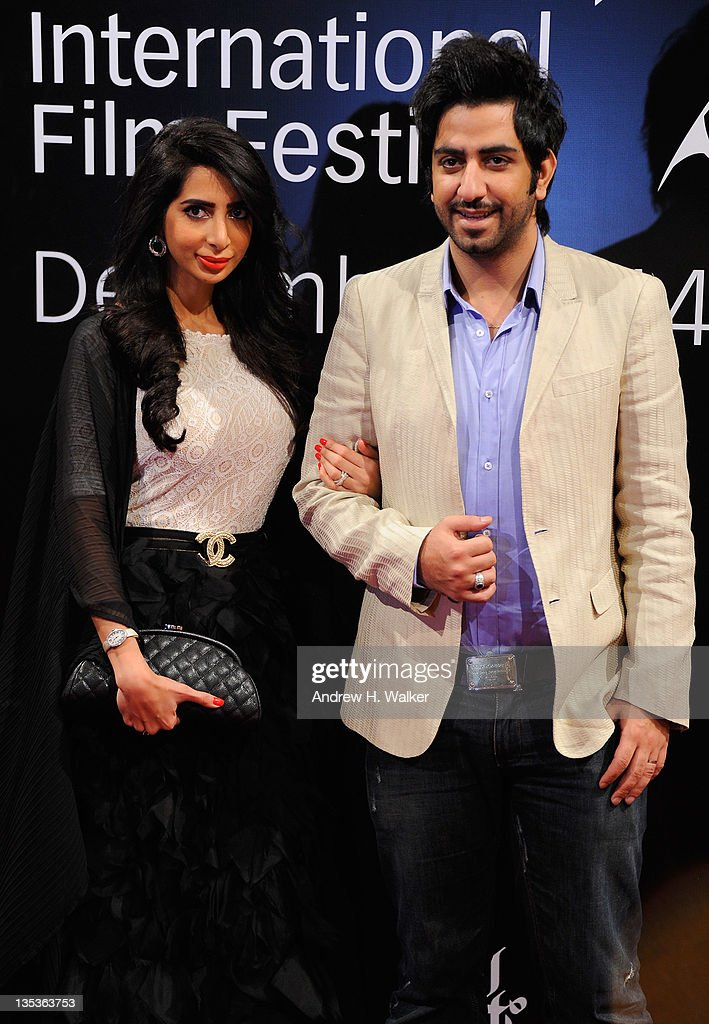 Mahmoud Bushahri (R) attends the 'Terraferma' premiere during day three of the 8th Annual Dubai International Film Festival held at the Madinat Jumeriah Complex on December 9, 2011 in Dubai, United Arab Emirates.
