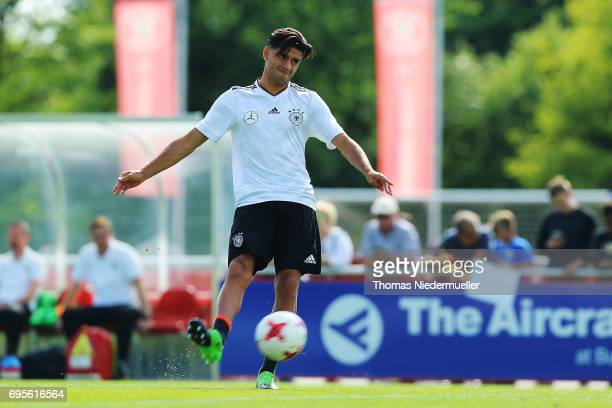 Mahmoud Dahoud in action during the Germany U21 training on June 13 2017 in Dreieich Germany