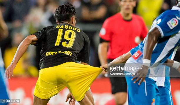Mahmoud Dahoud of Borussia Dortmund in action during a friendly match between Espanyol Barcelona and Borussia Dortmund as part of the training camp...
