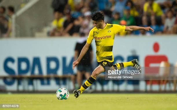 Mahmoud Dahoud of Borussia Dortmund in action during a friendly match between Borussia Dortmund and Atalanta Bergamo as part of the training camp on...
