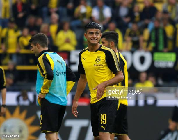 Mahmoud Dahoud of Borussia Dortmund is seen ahead of the DFL Super Cup 2017 final match between Borussia Dortmund vs Bayern Munich at Signal Iduna...