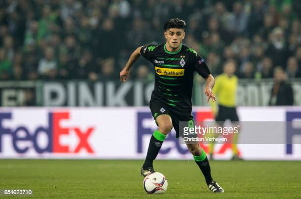 Mahmoud Dahoud of Borussia Moenchengladbach controls the ball during the UEFA Europa League match between Borussia Moenchengladbach and FC Schalke 04...