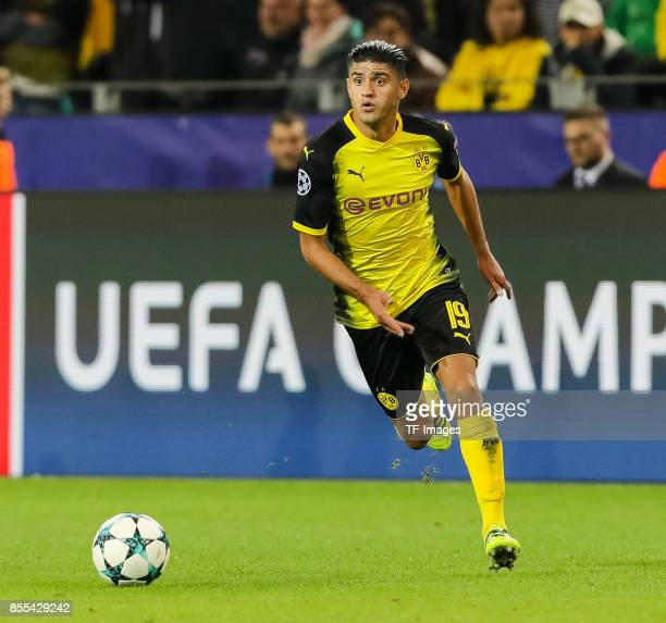 Mahmoud Dahoud of Dortmund controls the ball during the UEFA Champions League group H match between Borussia Dortmund and Real Madrid at Signal Iduna...