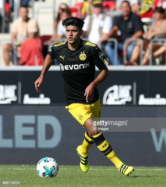 Mahmoud Dahoud of Dortmund in action during the preseason friendly match between RotWeiss Erfurt and Borussia Dortmund at the Steigerwaldstadion on...