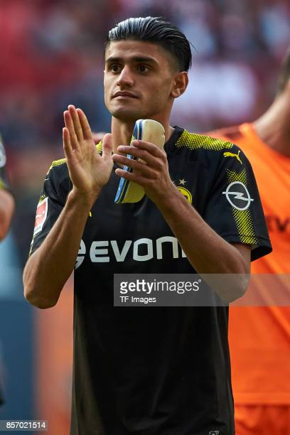 Mahmoud Dahoud of Dortmund looks on during the Bundesliga match between FC Augsburg and Borussia Dortmund at WWKArena on September 30 2017 in...