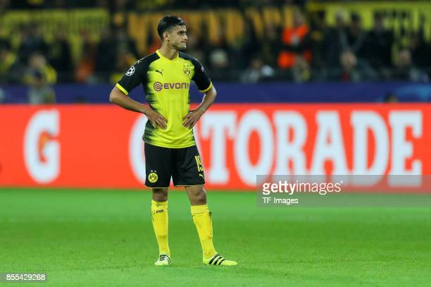 Mahmoud Dahoud of Dortmund looks on during the UEFA Champions League group H match between Borussia Dortmund and Real Madrid at Signal Iduna Park on...