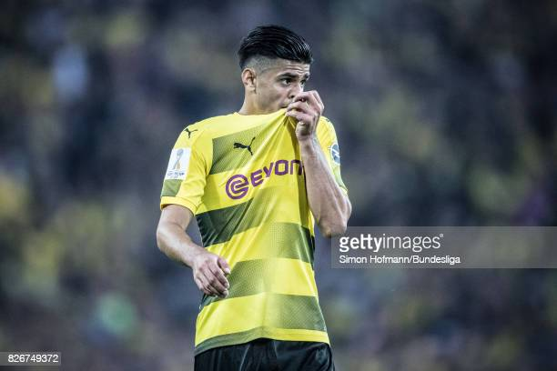 Mahmoud Dahoud of Dortmunt is disappointed during the DFL Supercup 2017 match between Borussia Dortmund and Bayern Muenchen at Signal Iduna Park on...