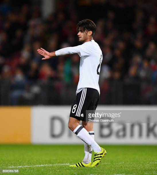Mahmoud Dahoud of Germany celebrates during the UEFA Under21 Euro 2019 Qualifier match between U21 of Germany and U21 of Azerbaijan at Stadion der...