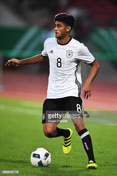 Mahmoud Dahoud of Germany in action during the Under21 friendly match between U21 Germany and U21 Slovakia at Auestadion on September 2 2016 in...