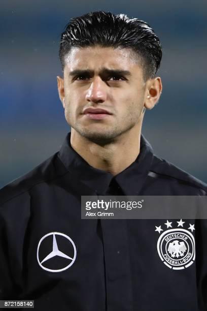 Mahmoud Dahoud of Germany looks on prior to the UEFA Under21 Euro 2019 Qualifier match between Azerbaijan U21 and Germany U21 at Dalga Arena on...