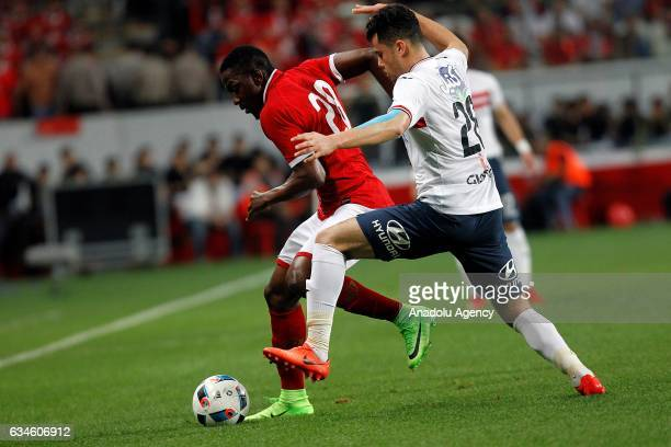 Mahmoud Hamdi of Zamalek in action during the Egypt Super Cup final match between Al Ahly and Zamalek at the Mohammed Bin Zayed Stadium in Abu Dhabi...