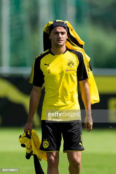 Mahmound Dahoud of Dortmund gestures during a training session as part of the training camp on July 29 2017 in Bad Ragaz Switzerland