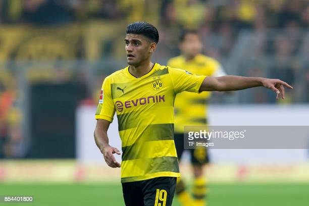 Mahmound Dahoud of Dortmund gestures during the Bundesliga match between Borussia Dortmund and Borussia Moenchengladbach at Signal Iduna Park on...