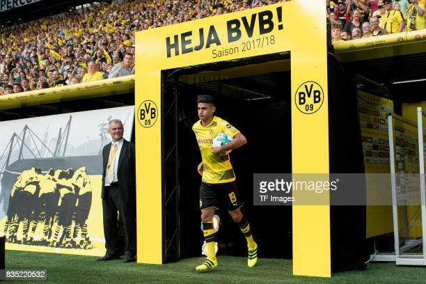 Mahmound Dahoud of Dortmund welcomes the fans during the Borussia Dortmund Season Opening 2017/18 at Signal Iduna Park on August 4 2017 in Dortmund...