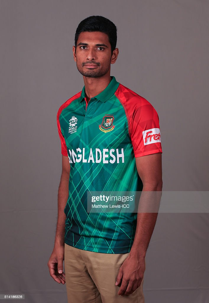 Mahmudullah of Bangladesh pictured during a Headshot session ahead of the ICC Twenty20 World Cup on March 7, 2016 in Dharamsala, India.