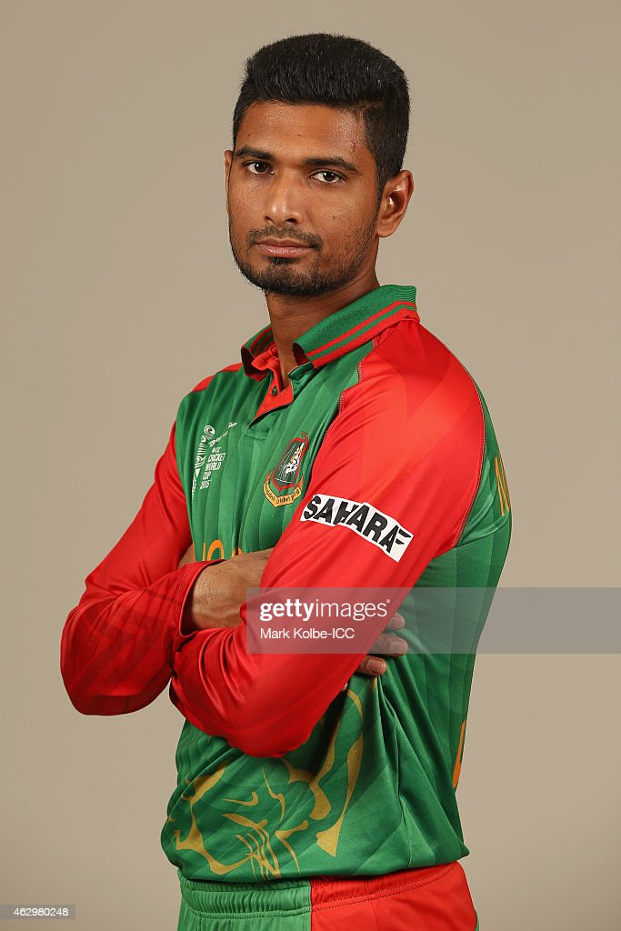 Mahmudullah poses during the Bangladesh 2015 ICC Cricket World Cup Headshots Session at the Sheraton Hotel on February 8, 2015 in Sydney, Australia.