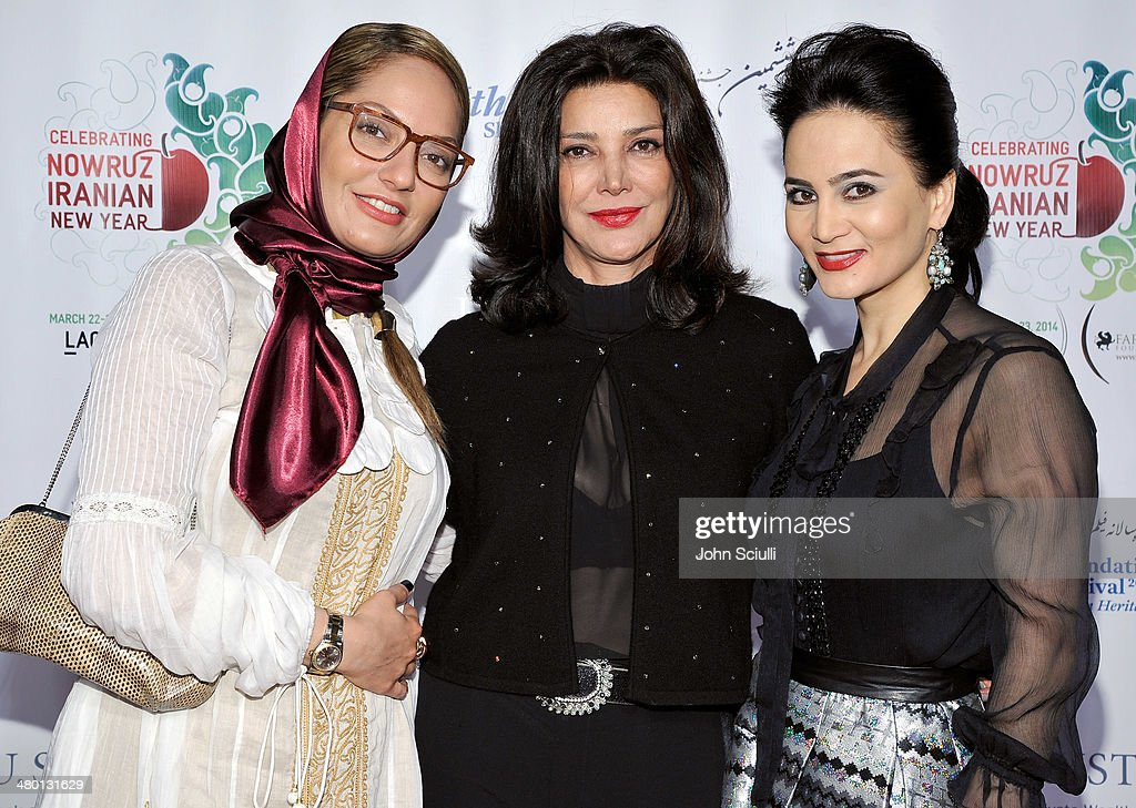 Mahnaz Afshar, <a gi-track='captionPersonalityLinkClicked' href=/galleries/search?phrase=Shohreh+Aghdashloo&family=editorial&specificpeople=210536 ng-click='$event.stopPropagation()'>Shohreh Aghdashloo</a> and Bita Milanian attends the 6th Annual Farhang Foundation's Short Film Festival award ceremony and reception at LACMA on March 22, 2014 in Los Angeles, California.