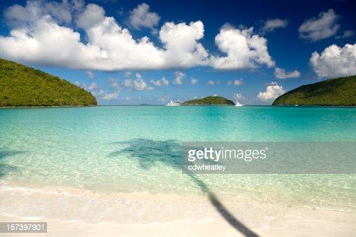 Maho Bay, St. John - beautiful beach in the Caribbean