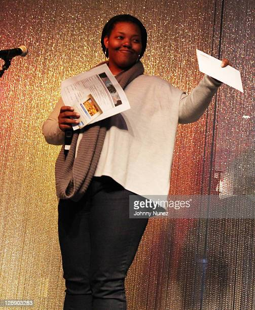 Mahogany L Brown attends The Beat's first offical Poetry Slam at MTV Studios on February 7 2011 in New York City