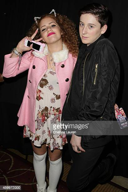 Mahogany LOX and Trevor Moran arrive at DigiTour presents 'Jack Jack The Movie' Los Angeles premiere at Pacific Theatre at The Grove on December 4...