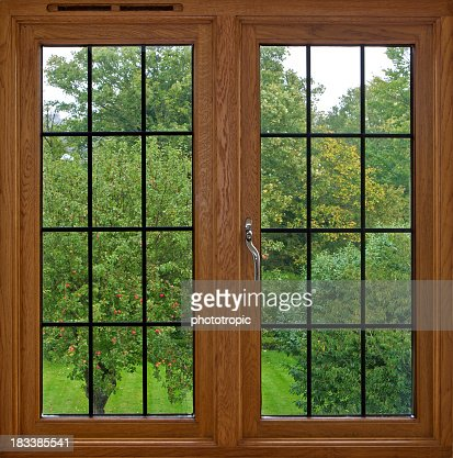 Window frame design stock photos and pictures getty images for Wood windows colorado