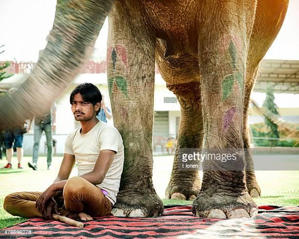 Mahout & Indian Elephant
