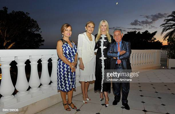 Mahsa Nemjati HIM Farah Diba Pahlavi Amanda Cronin and Brandon Nemjati attend the Dinner with Queen Farah Diba Pahlavi at hotel Cap Estel on...