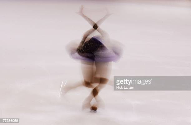 Mai Asada of Japan competes in the ladies short program of 2007 Skate America at the Sovereign Center October 27 2007 in Reading Pennsylvania