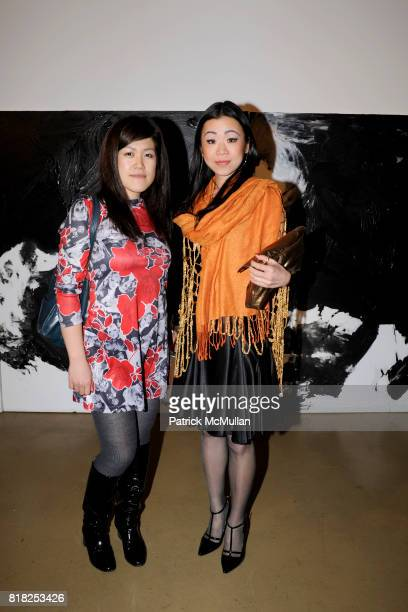 Mai Kiyotake and Miyuki Masumoto attend Ralph Rucci Hiroto Rakusho Art exhibit reception at The Xchange 640 W 28th St on February 17 2010