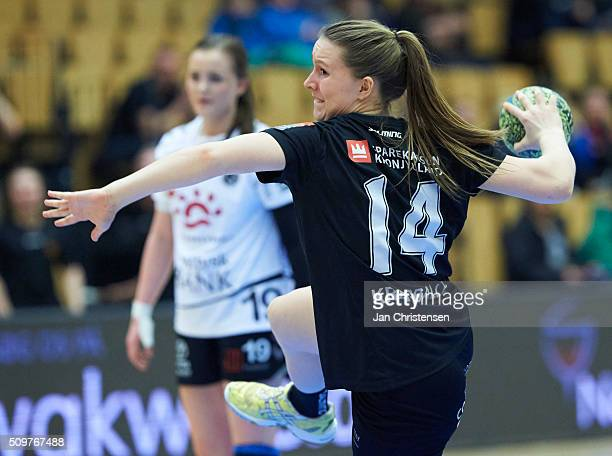 Mai Kragballe of Copenhagen Handball in action during the Danish Primo Tours Dameligaen match between Copenhagen Handball and Team Tvis Holstebro in...