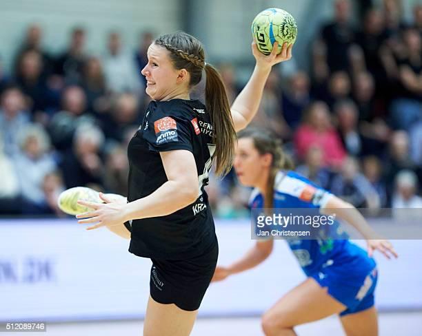 Mai Kragballe of Copenhagen Handball in action during the Danish Primo Tours Dameligaen match between Copenhagen Handball and Randers HK in...