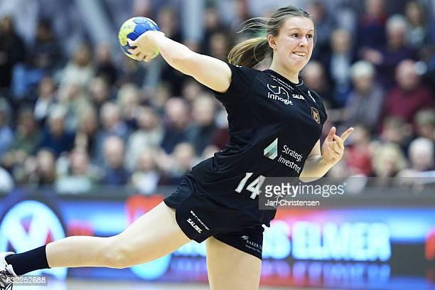 Mai Kragballe of Copenhagen Handball in action during the Danish Primo Tours Ligaen match between Copenhagen Handball and Team Esbjerg in...