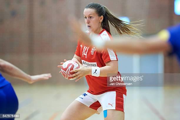 Mai Kragballe of Denmark in action during the Scandinavian Open match between Denmark U20 and Sweden U20 at Vejen Idratscenter on June 24 2016 in...