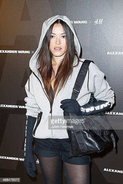 Mai Lan attends the Alexander Wang x HM Collection Launch at the HM Boulevard SaintGermain store on November 5 2014 in Paris France