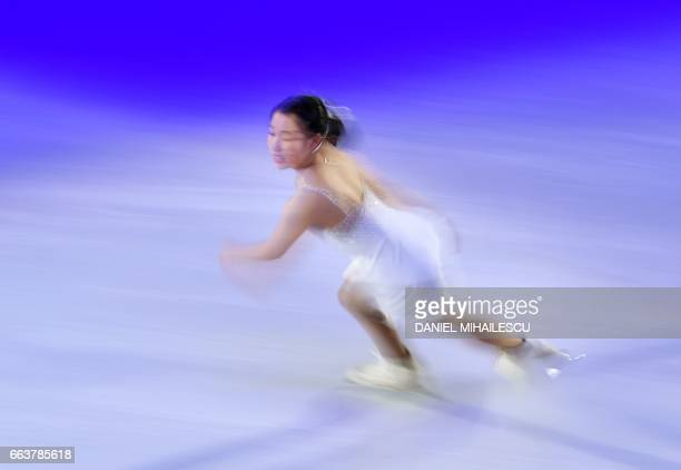 TOPSHOT Mai Mihara of Japan performs during the Gala show at the end of ISU World Figure Skating Championships 2017 in Helsinki Finland April 2 2017...