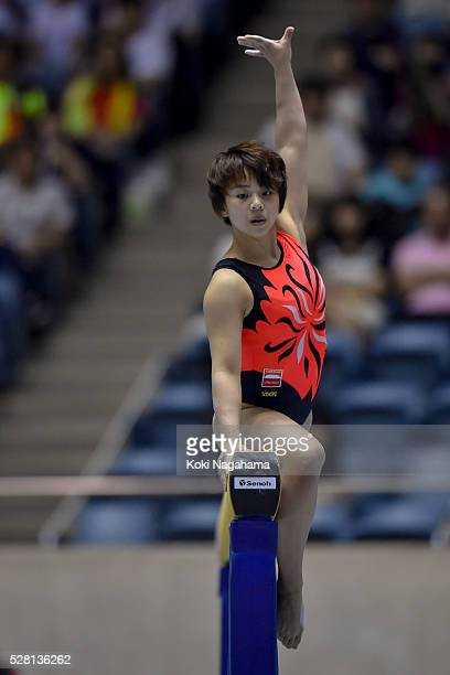 Mai Murakami competes in the Floor Exercise during the Artistic Gymnastics NHK Trophy at Yoyogi National Gymnasium on May 4 2016 in Tokyo Japan