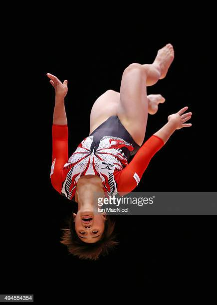 Mai Murakami competes on the Floor during day five of World Artistic Gymnastics Championship at The SSE Hydro on October 27 2015 in Glasgow Scotland