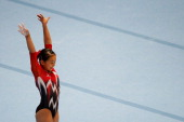 Mai Murakami of Japan competes in the Floor Exercise Final on Day Seven of the Artistic Gymnastics World Championships Belgium 2013 held at the...