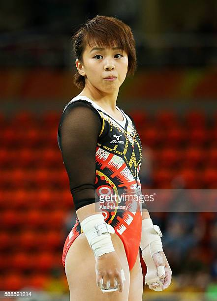 Mai Murakami of Japan prepares to compete on the uneven bars during the Women's Individual All Around Final on Day 6 of the 2016 Rio Olympics at Rio...