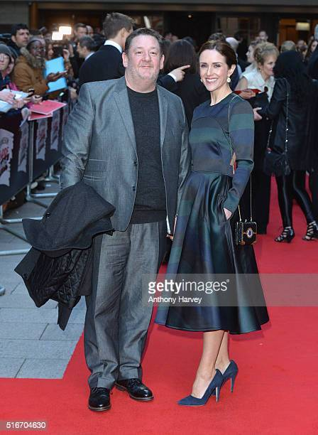 Maia Dunphy and Johnny Vegas attend the Jameson Empire Awards 2016 at The Grosvenor House Hotel on March 20 2016 in London England